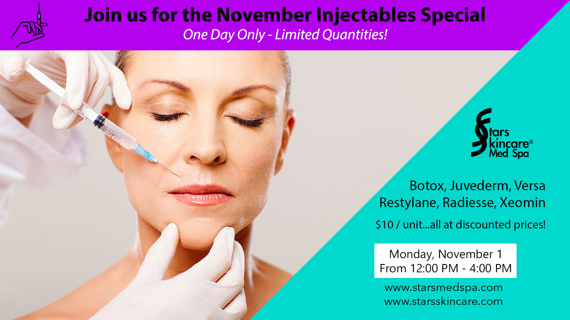 Botox Injectables Special